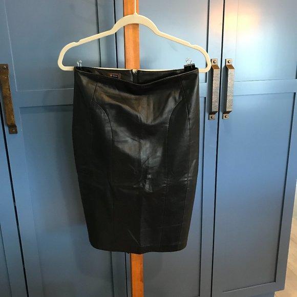Vintage Danier Leather Skirt